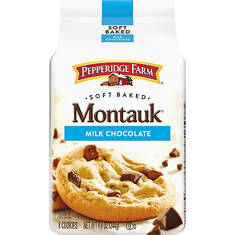 Pepperidge Farm Cookies Soft Baked Chunk Montauk Milk Chocolate Cookies - 8.6 Oz