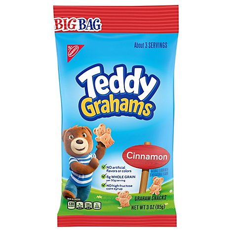 Honey Maid Teddy Grahams Graham Snacks Cinnamon Big Bag - 3 Oz