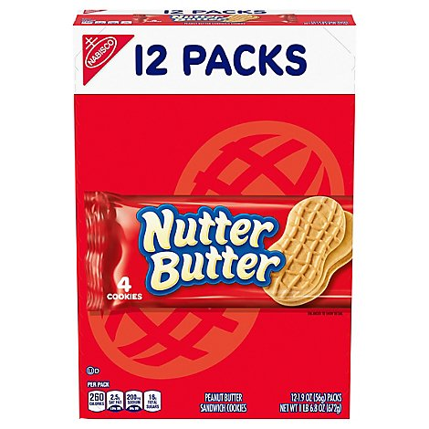Nutter Butter Cookies Sandwich Peanut Butter - 12-1.9 Oz
