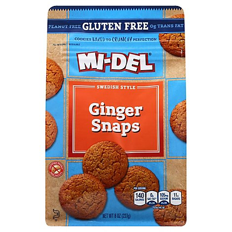 MI-DEL Cookies Ginger Snaps Swedish Style - 8 Oz