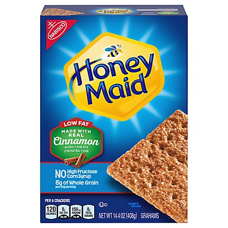 Honey Maid Grahams Cinnamon Low Fat - 14.4 Oz