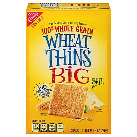 Wheat Thins Snacks Big 100% Whole Grain - 8 Oz