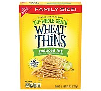 Wheat Thins Snacks Reduced Fat Family Size! - 14.5 Oz