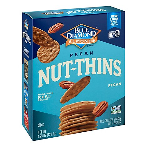 Blue Diamond Nut-Thins Cracker Snacks Pecan Nut & Rice - 4.25 Oz