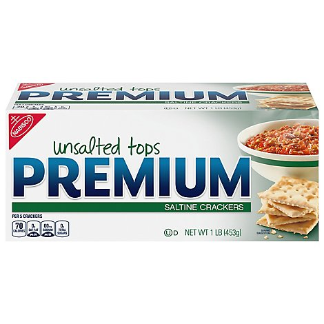 PREMIUM Crackers Saltine Unsalted Tops - 16 Oz