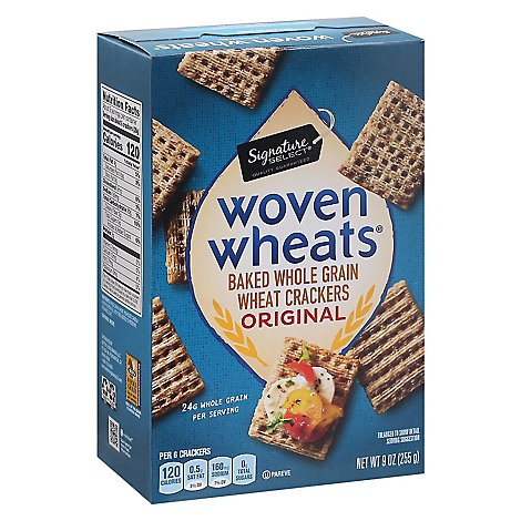 Signature SELECT Crackers Woven Wheats Original - 9 Oz