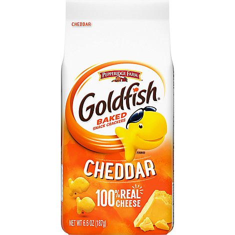 Pepperidge Farm Goldfish Crackers Baked Snack Cheddar - 6.6 Oz