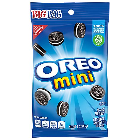 OREO Cookies Sandwich Chocolate Mini Big Bag - 3 Oz