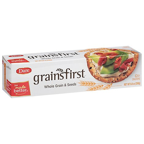 Dare grainsfirst Crackers Whole Grain - 8.8 Oz