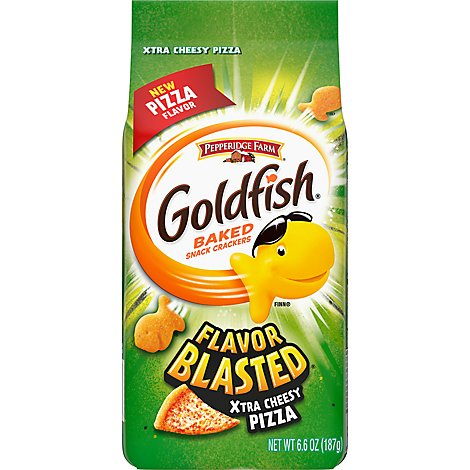 Pepperidge Farm Goldfish Crackers Baked Snack Flavor Blasted Xplosive Pizza - 6.6 Oz