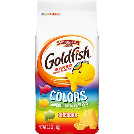 Pepperidge Farm Goldfish Crackers Baked Snack Colors Cheddar - 6.6 Oz
