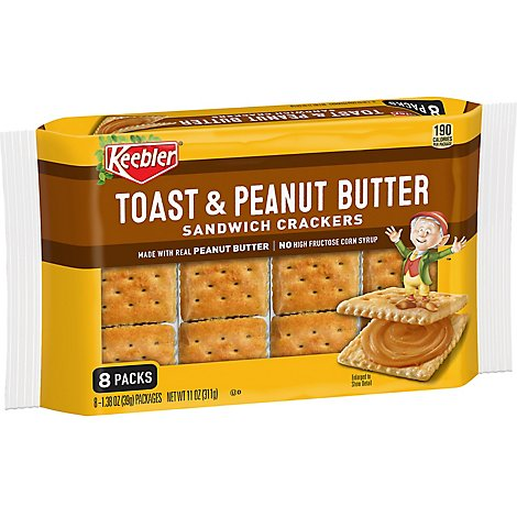 Keebler Sandwich Crackers Toast and Peanut Butter 8 Count - 11 Oz