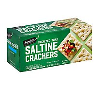 Signature SELECT Crackers Saltine Unsalted Tops - 16 Oz