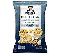 Quaker Popped Rice Crisps Gluten Free Kettle Corn - 3.52 Oz