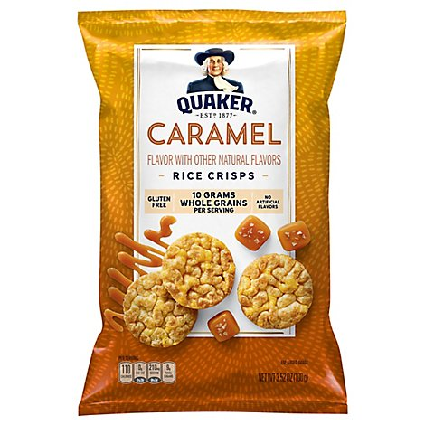 Quaker Popped Rice Crisps Gluten Free Caramel - 3.52 Oz