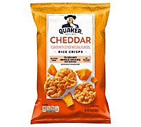 Quaker Popped Rice Crisps Gluten Free Cheddar Cheese - 3.03 Oz