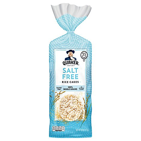 Quaker Rice Cakes Salt Free - 4.47 Oz