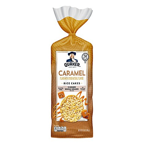 Quaker Rice Cakes Caramel Corn - 6.56 Oz