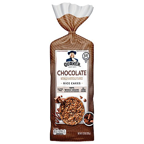 Quaker Rice Cakes Chocolate Crunch Gluten Free - 7.23 Oz