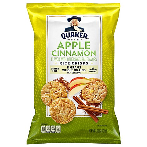 Quaker Popped Rice Crisps Apple Cinnamon - 3.52 Oz