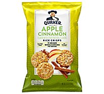 Quaker Popped Rice Crisps Gluten Free Apple Cinnamon - 3.52 Oz