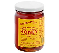 Wild Mountain Honey Raw 100% Pure Natural Uncooked - 16 Oz