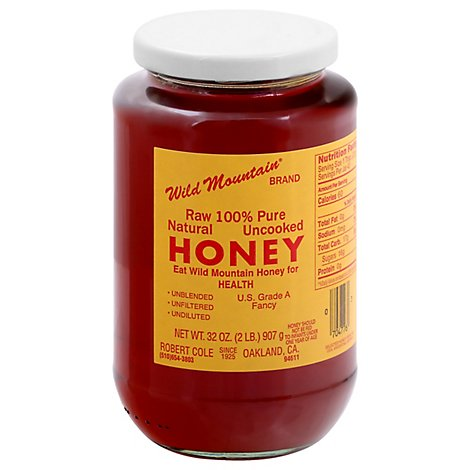 Wild Mountain Honey Raw 100% Pure Natural Uncooked - 32 Oz
