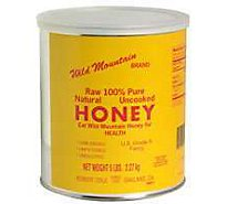 Wild Mountain Honey Raw 100% Pure Natural Uncooked - 5 Lb