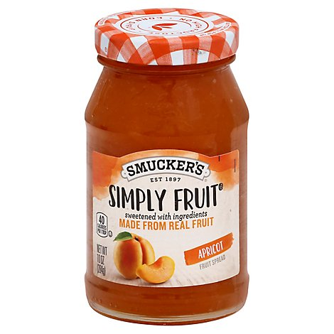 Smuckers Simply Fruit Spreadable Fruit Apricot - 10 Oz