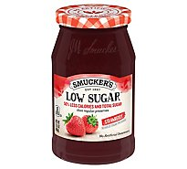 Smuckers Low Sugar Preserves Reduced Sugar Strawberry - 15.5 Oz