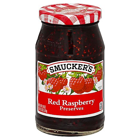 Smuckers Preserves Red Raspberry - 18 Oz