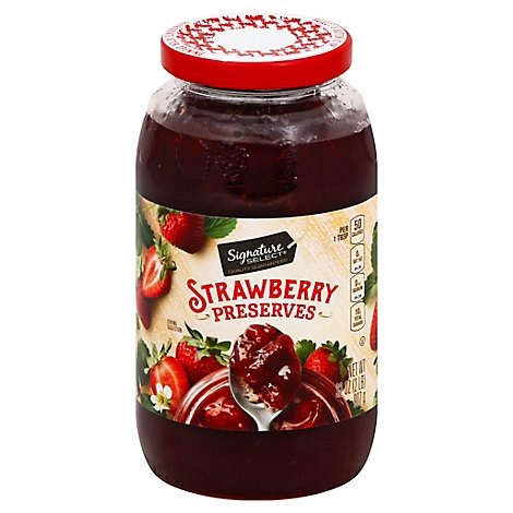 Signature SELECT/Kitchens Preserves Strawberry - 32 Oz