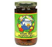 Oasis Foods Jelly Jalapeno Ragin Red - 10 Oz