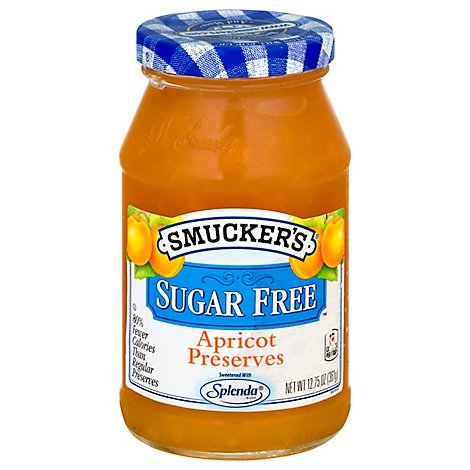 Smuckers Sugar Free Preserves Apricot - 12.75 Oz