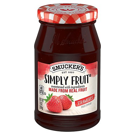 Smuckers Simply Fruit Spreadable Fruit Strawberry - 10 Oz