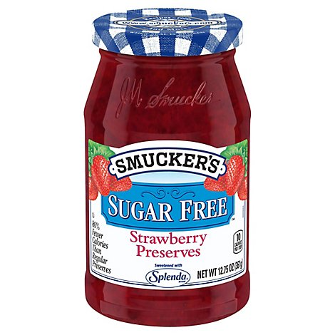 Smuckers Preserves Sugar Free Strawberry - 12.75 Oz