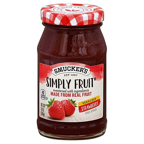 Smuckers Simply Fruit Spreadable Fruit Seedless Strawberry - 10 Oz