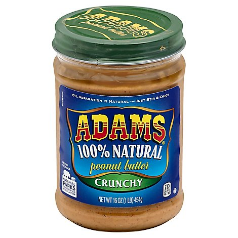 Adams Peanut Butter Crunchy - 16 Oz