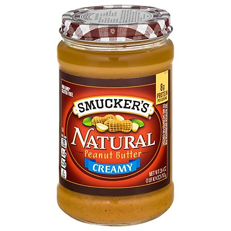 Smuckers Natural Peanut Butter Creamy - 26 Oz