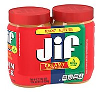 Jif Peanut Butter Creamy Twin Pack - 2-40 Oz