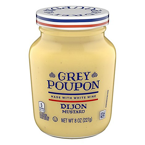 Grey Poupon Mustard Dijon - 8 Oz
