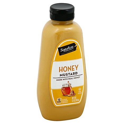 Signature SELECT Mustard Honey Bottle - 12 Oz