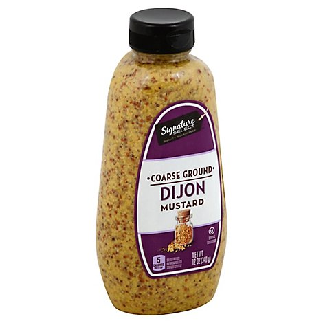 Signature SELECT Mustard Coarse Ground Dijon Bottle - 12 Fl. Oz.
