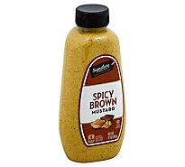 Signature SELECT Mustard Spicy Brown Bottle - 12 Oz