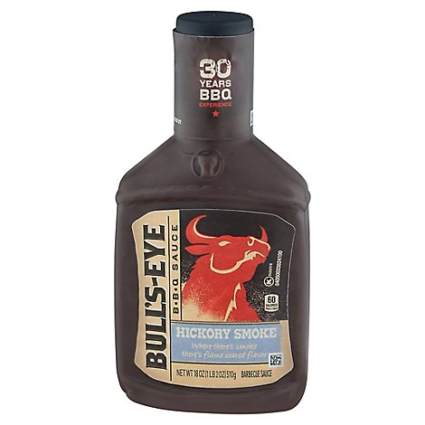 Bulls-Eye Sauce BBQ Hickory Smoke - 18 Oz