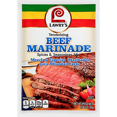 Lawrys Spices & Seasoning Mix Beef Marinade - 1.06 Oz