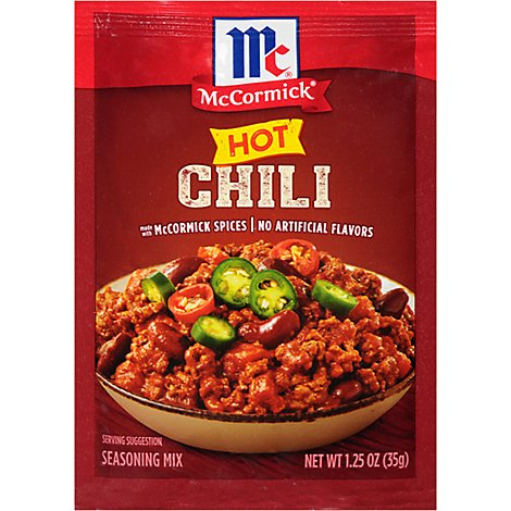 McCormick Seasoning Mix Hot Chili - 1.25 Oz