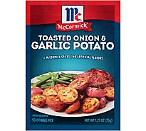 McCormick Seasoning Mix Toasted Onion & Garlic Potato - 1.25 Oz