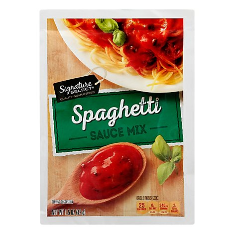Signature SELECT Sauce Mix Spaghetti - 1.5 Oz