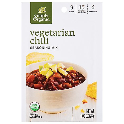 Simply Organic Seasoning Vegetarian Chili - 1.00 Oz